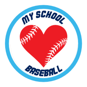 Custom Baseball Sticker with Heart Seams and text