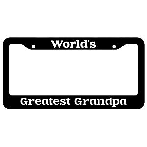 World's Greatest Grandpa License Plate Frame