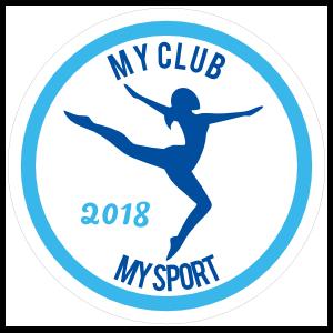 Custom Gymnast Circle Sticker