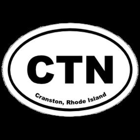 Cranston, Rhode Island Oval Stickers