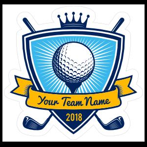 Custom Golf Team Shield Sticker
