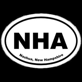 Nashua, New Hampshire Oval Stickers