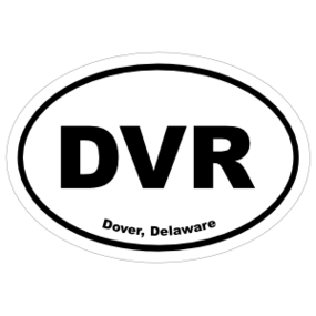 Dover, Delaware Oval Stickers