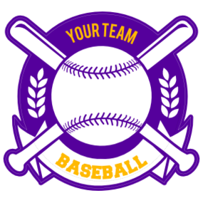 Custom Baseball Sticker with Banner