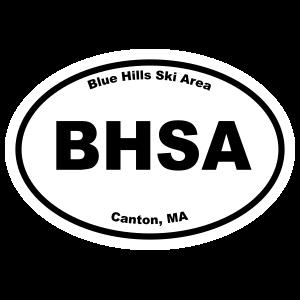Blue Hills Ski Area Oval Sticker