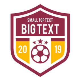 Custom Soccer Shield with Big Text
