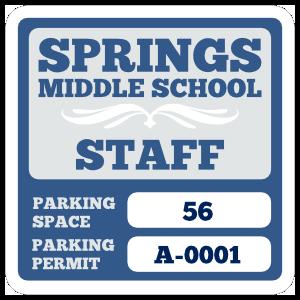 Parking Permit Square 6
