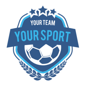 Custom Soccer Badge with Leaves