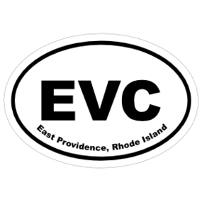 East Providence, Rhode Island Oval Stickers
