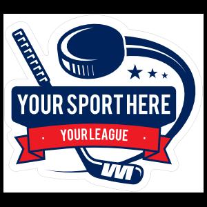 Custom Swooshing Puck Hockey Sticker