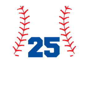 Custom Heart Baseball Sticker with Number