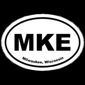 Milwaukee, Wisconsin Oval Stickers