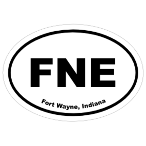 Fort Wayne, Indiana Oval Stickers