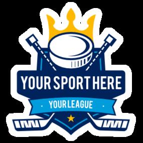 Custom Hockey Puck with Crown Sticker