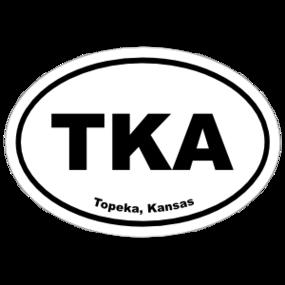 Topeka, Kansas Oval Stickers