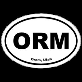 Orem, Utah Oval Stickers