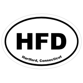 Hartford, Connecticut Oval Stickers