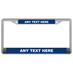 Custom Die Cast Zinc Polished Chrome Frame with Raised Letters