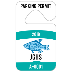 Arch Rectangle Parking Permit Hang Tag