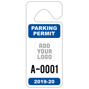 Long Hang Tag Parking Permit with Your Logo