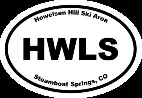 Howelsen Hill Ski Area Oval Sticker