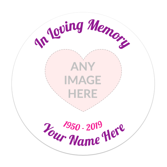 In Loving Memory Circle Sticker