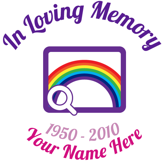 Multi-Color In Loving Memory with Any Clipart Sticker