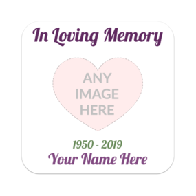 In Loving Memory Rounded Rectangle Sticker