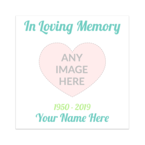 In Loving Memory Rectangle Sticker