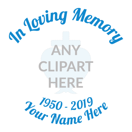 Custom In Loving Memory with Any Clipart Sticker