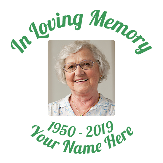 Custom In Loving Memory with Any Image Sticker
