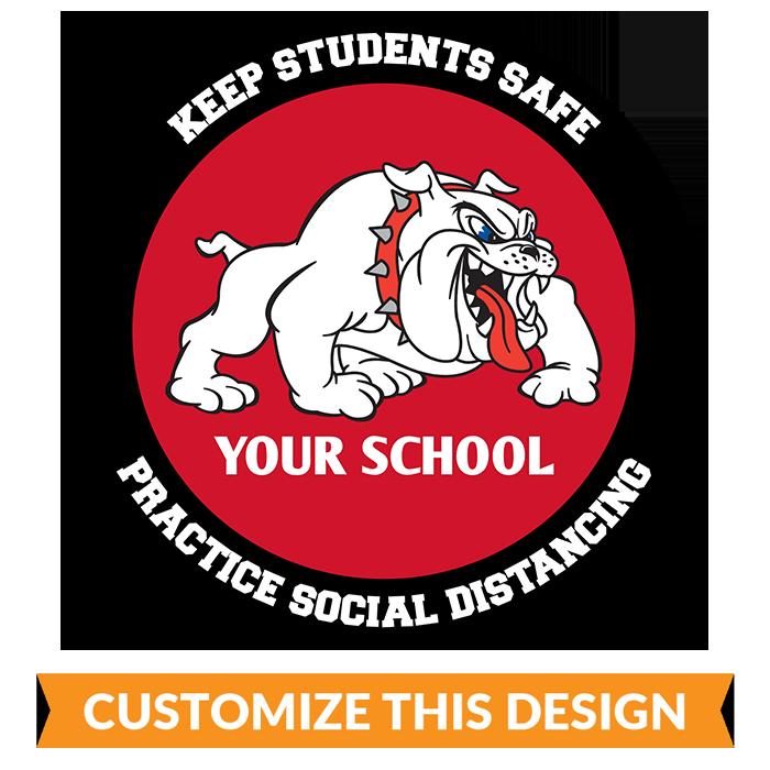 School Mascot Social Distancing Floor Sticker