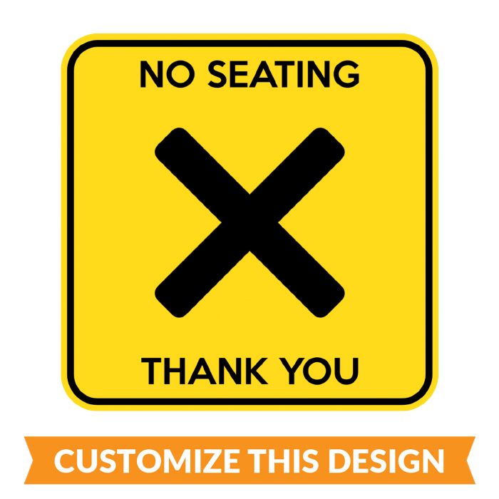 "Customizable ""No Seating"" Table Sticker"