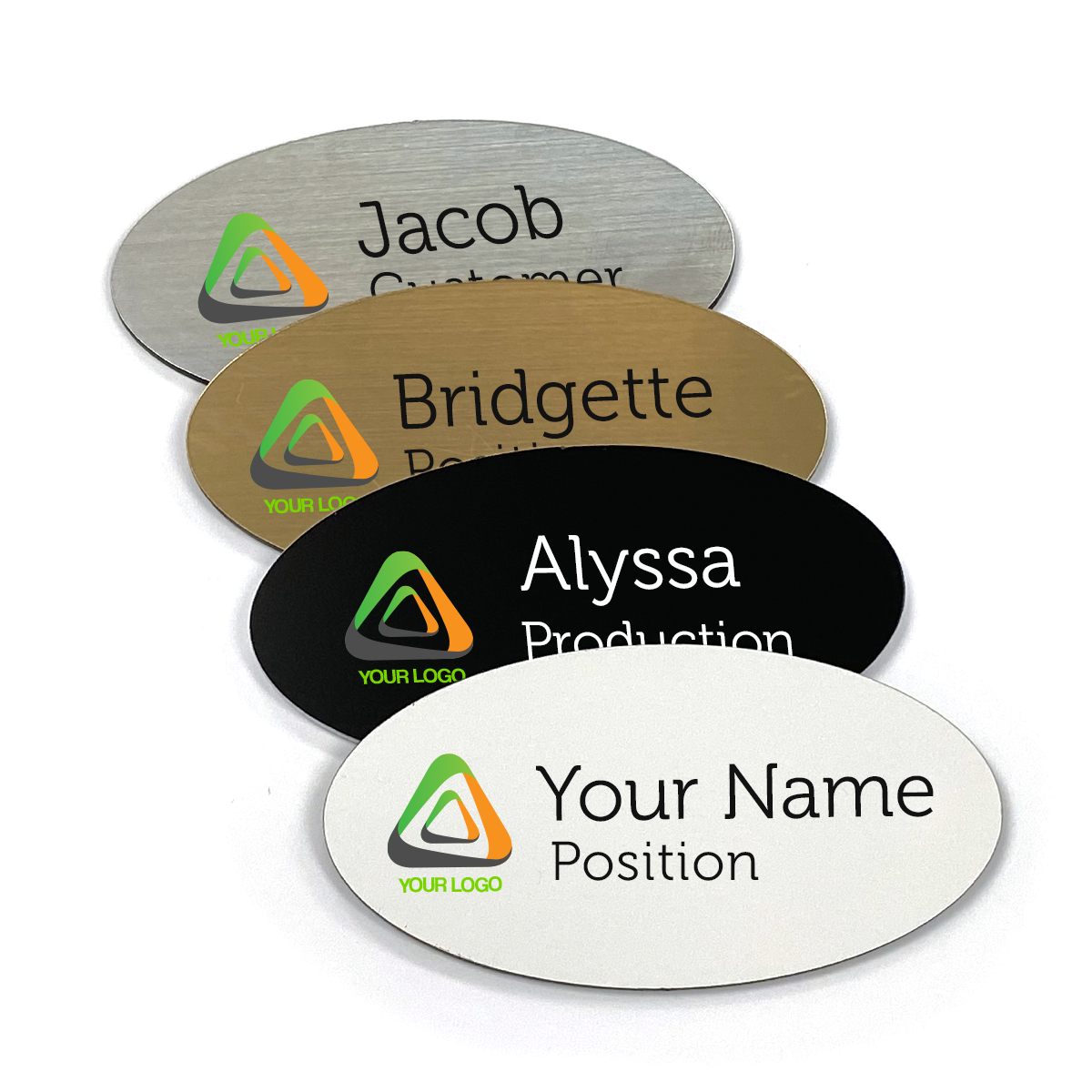 Large Plastic Oval Name Tag