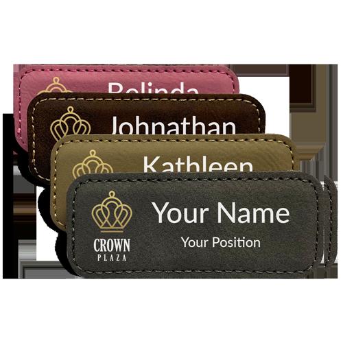 Custom Leather Name Tag