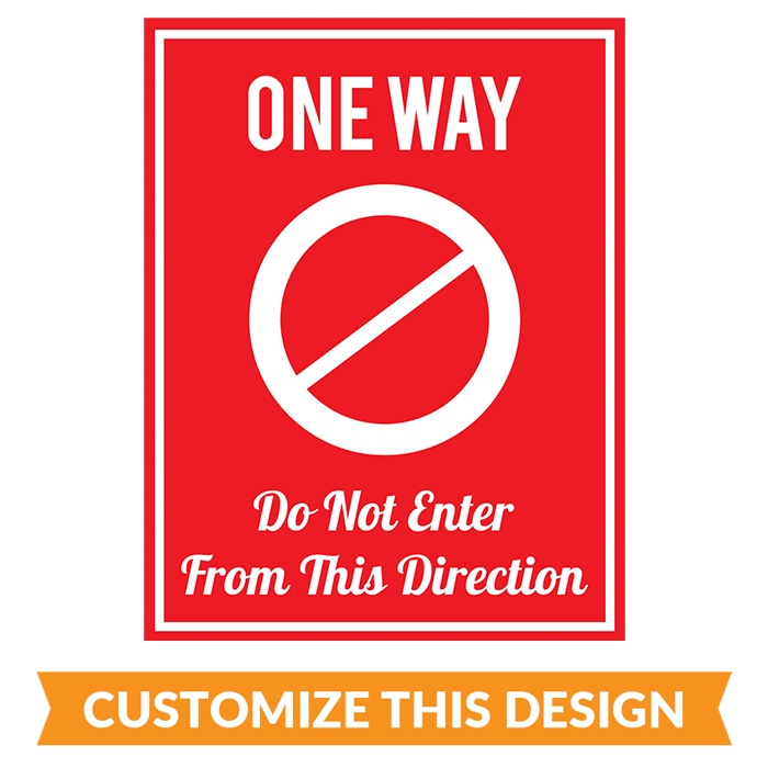 "Customizable ""One Way - Exit"" Floor Stickers"