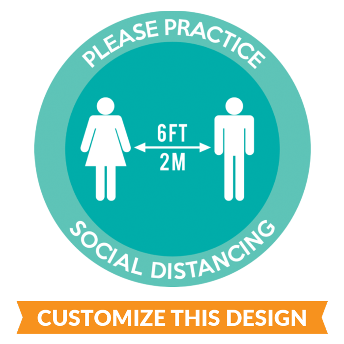 Custom Practice Social Distancing Floor Stickers