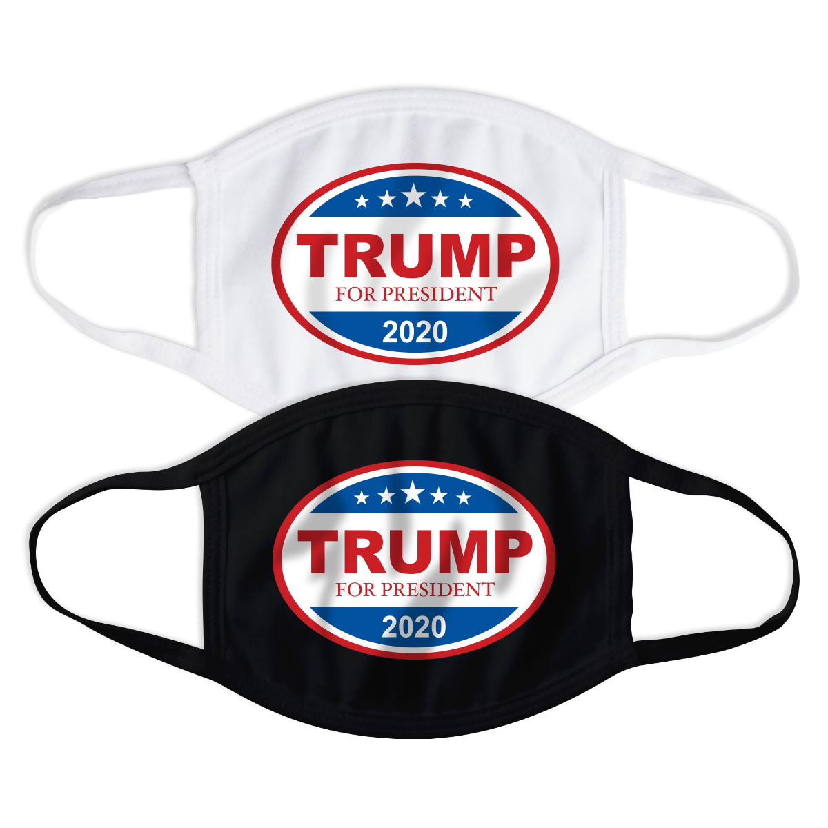 Donald Trump Stars Oval Face Mask