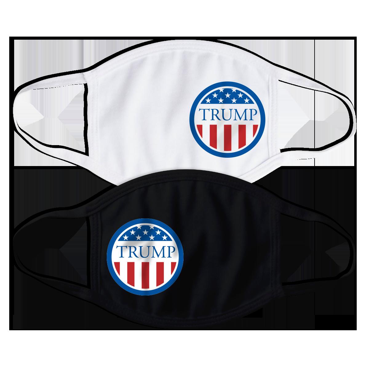 Donald Trump Flag Circle Face Mask