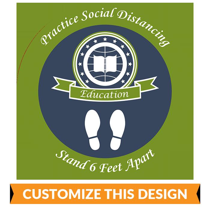 University Social Distancing Floor Stickers