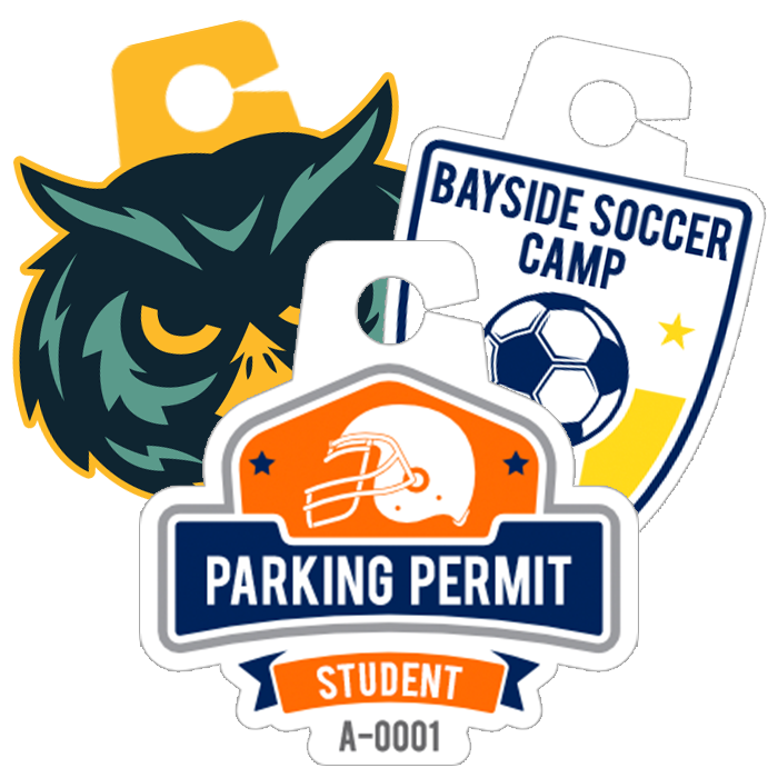 Upload Your Own Parking Permit Hang Tag Shape