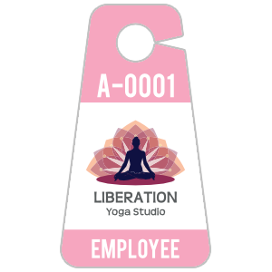 Triangle Yoga Hang Tag Parking Permit
