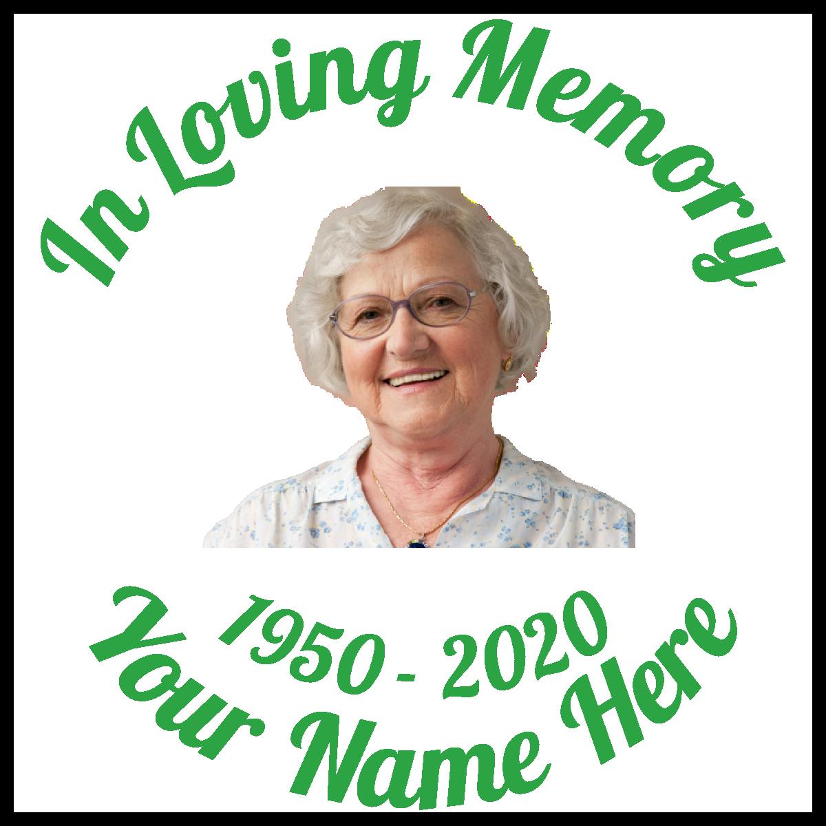 Custom In Loving Memory with Any Photo Sticker