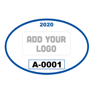 Oval Parking Permit with Your Logo