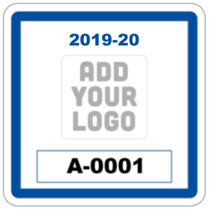 Square Parking Permit with Your Logo