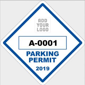 Diamond Parking Permit with Your Logo