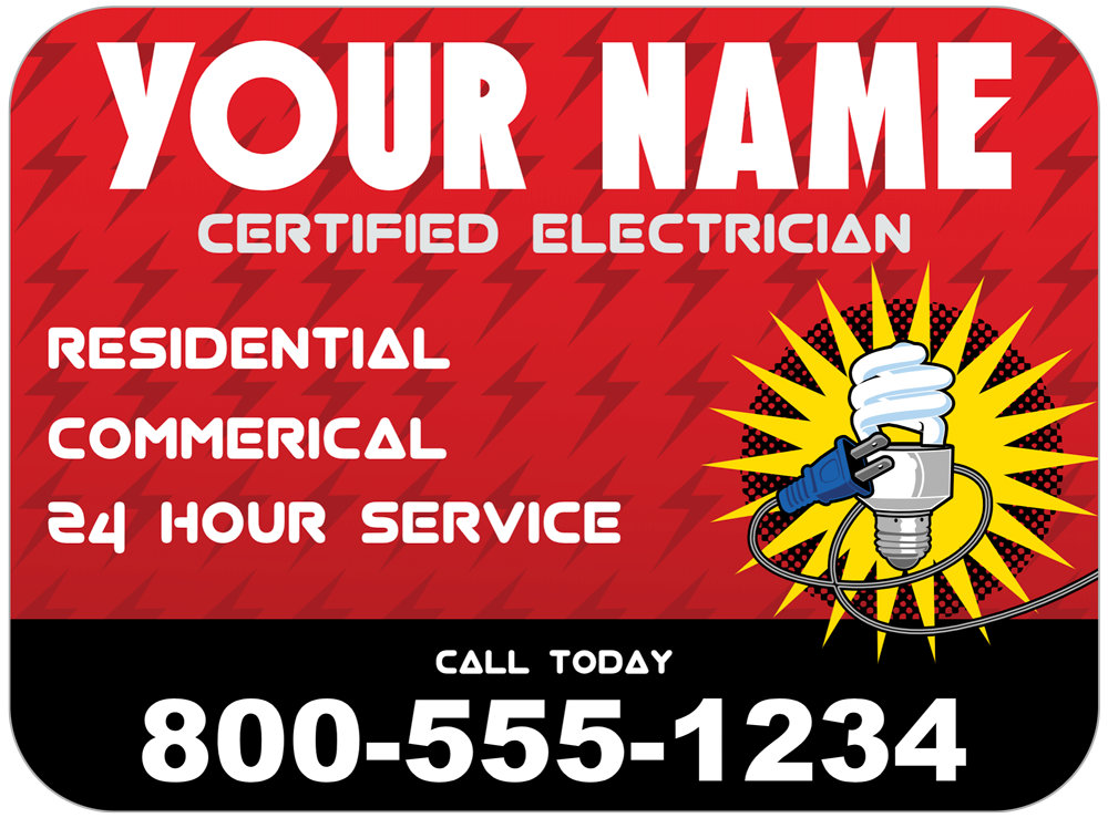 Electrician Magnet Template