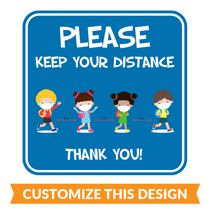 Elementary School Social Distancing Floor Stickers