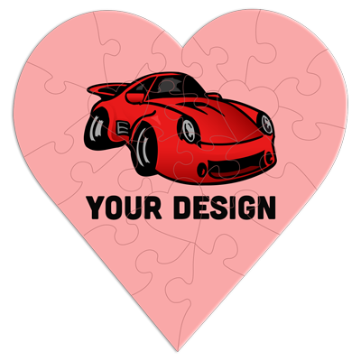 Premium Custom Heart Puzzle