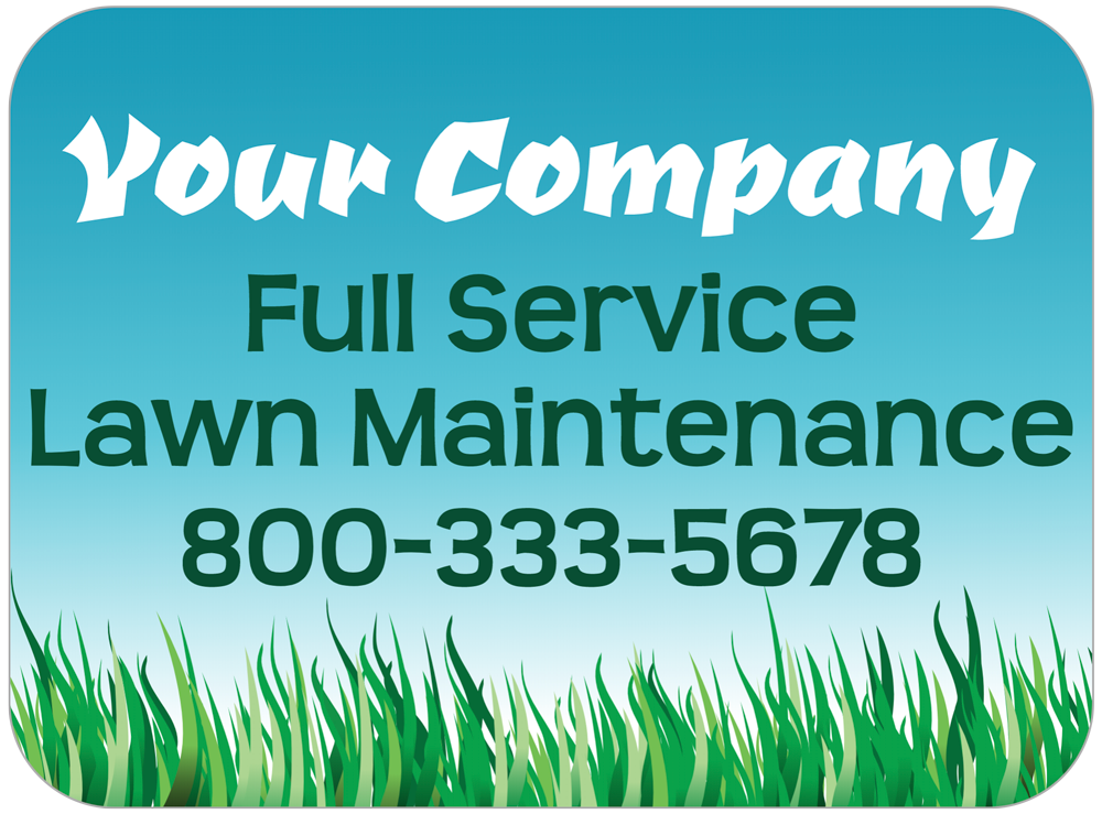 Lawn Care Magnet Template